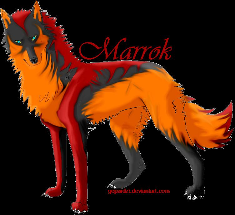 Wolf marrok by gepardzi. Wolves clipart magic