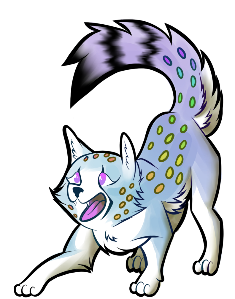 Wolves clipart majestic. Wolf cheetah hybrid by