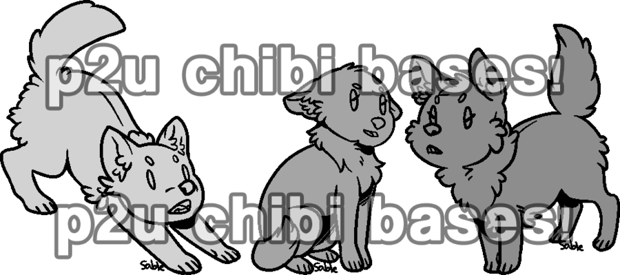 Wolves clipart nose. Chibi wolf base set