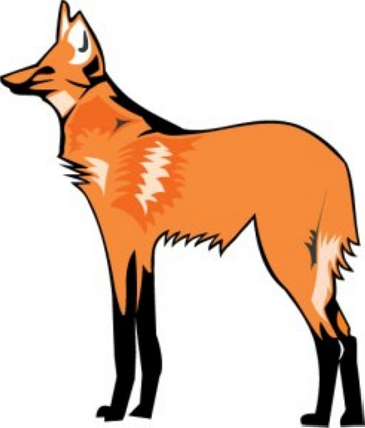 Wolves clipart orange. Free red wolf cliparts