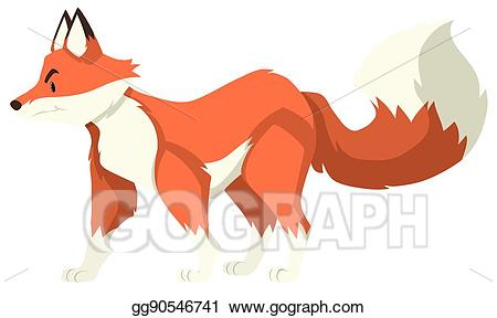 Vector art red wolf. Wolves clipart orange