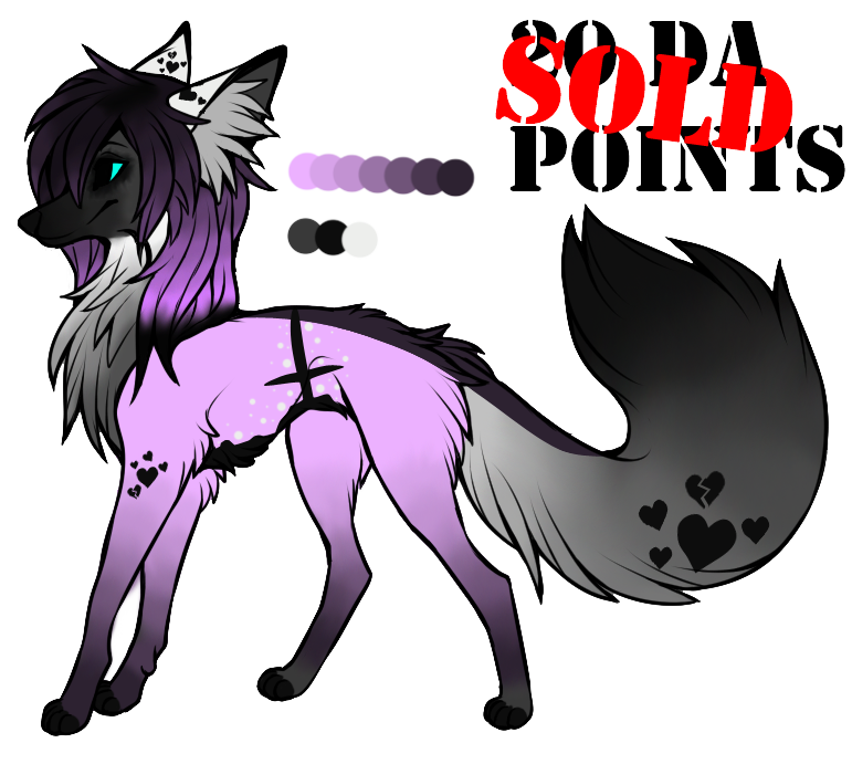 Wolves clipart purple. Pastel goth wolf adoptable