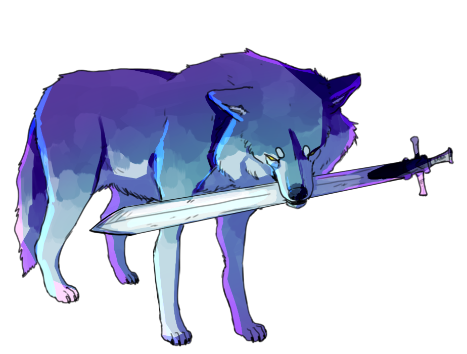 Sif the great grey. Wolves clipart purple