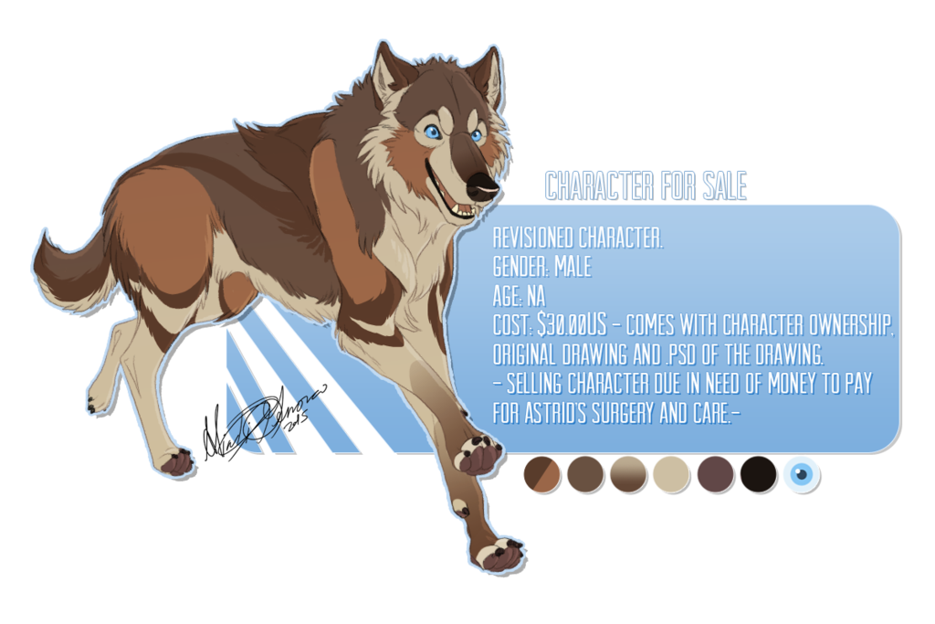 Astrid the wolf character. Wolves clipart realistic
