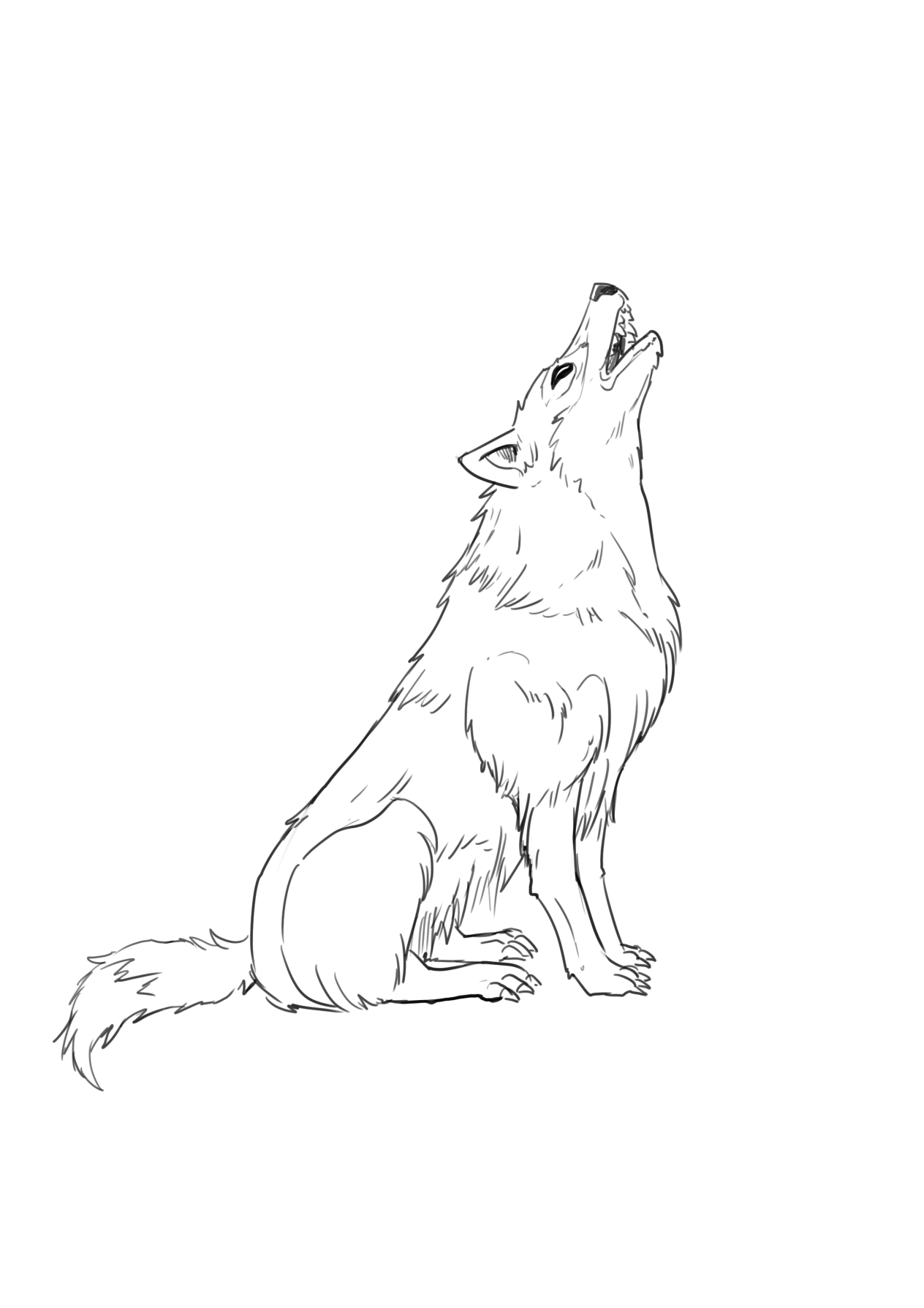 Wolves clipart realistic.  ways to draw