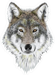 Wolf sticker . Wolves clipart realistic