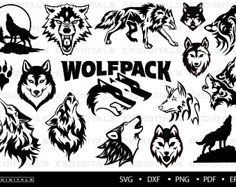 Wolf etsy . Wolves clipart svg