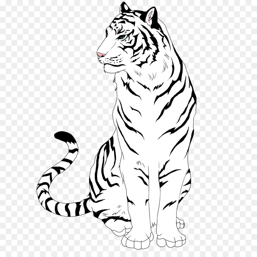 Wolf and drawing line. Wolves clipart tiger