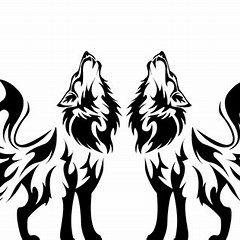 Wolves clipart two wolf. Silhouette clip art winter