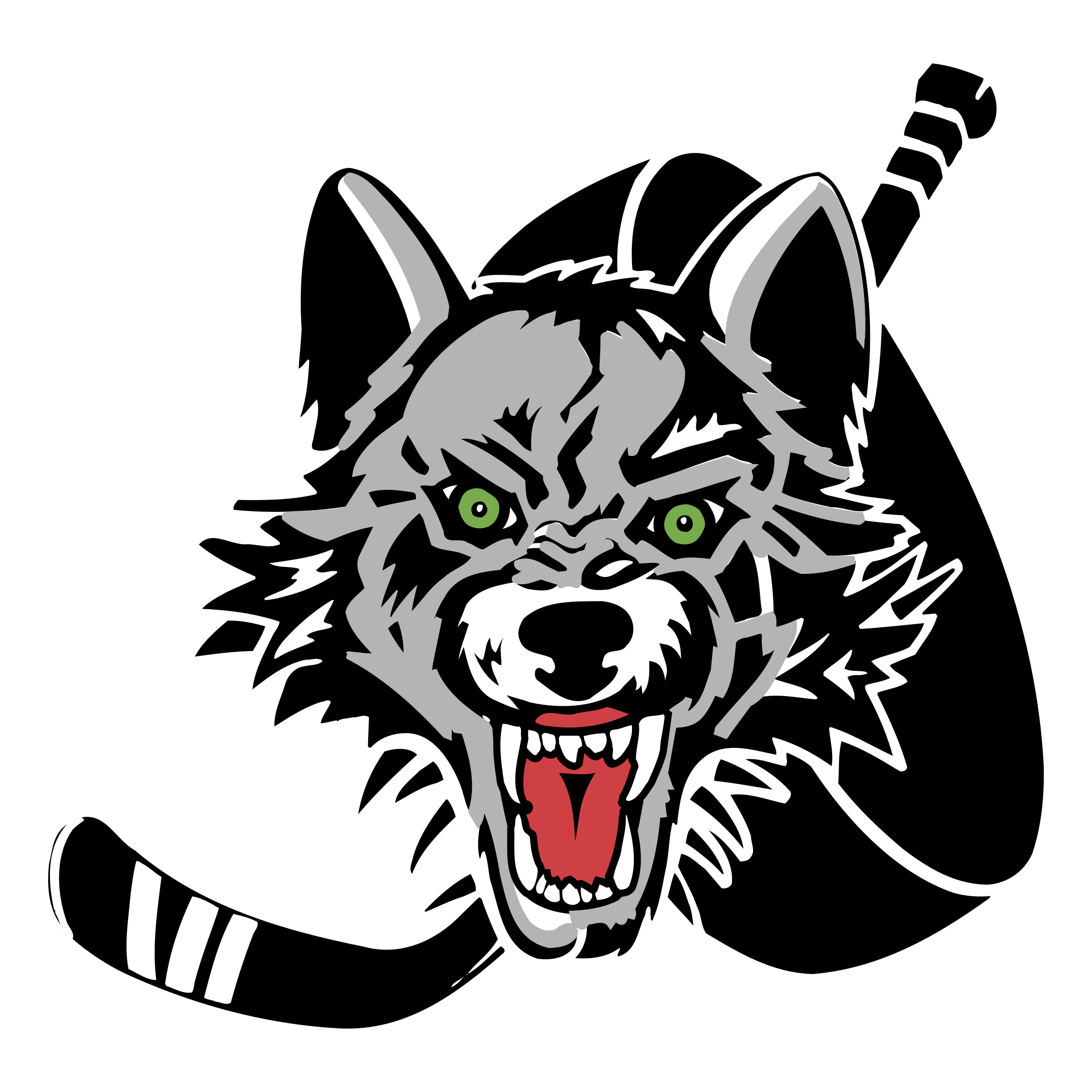 Chicago logo png transparent. Wolves clipart vector
