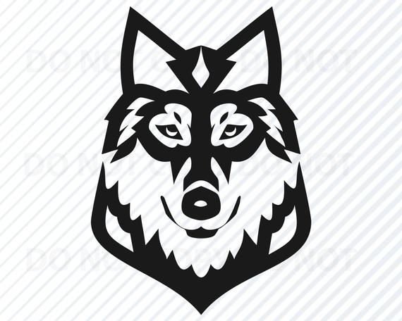 Wolves clipart wolf head. Svg files for cricut