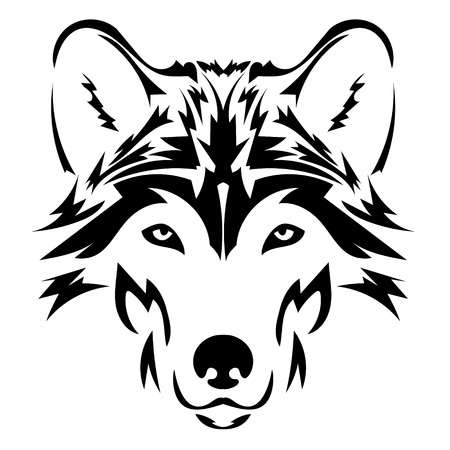 Wolves clipart wolf head. Stylish clip art picturesque
