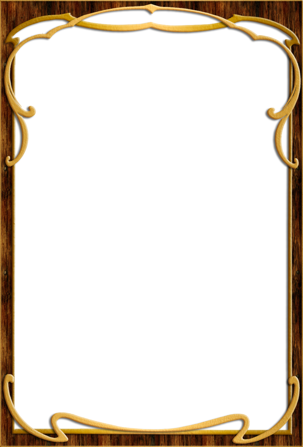 Frame photos attachments angels. Wood border png