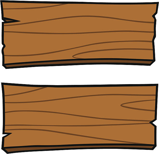Board station. Wood clipart