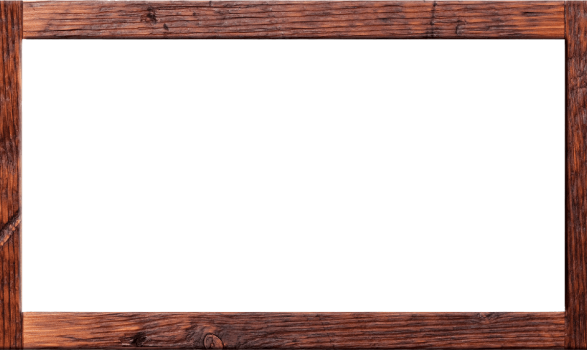 Wood frame png. Picture wooden thing white