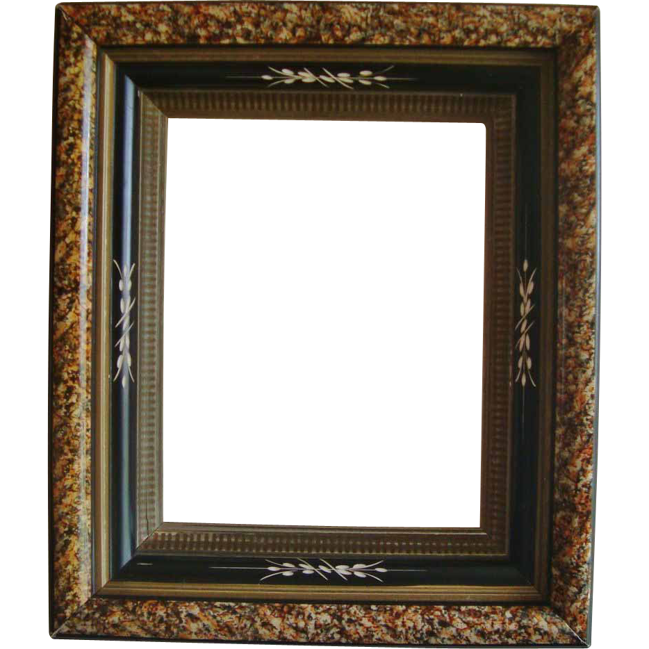 Wood picture frame png. Antique c victorian eastlake