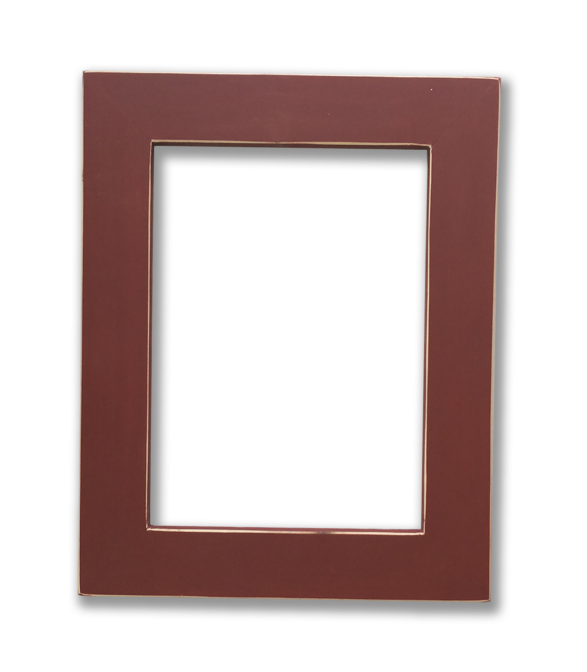 Wood picture frame png. Maria red solid a