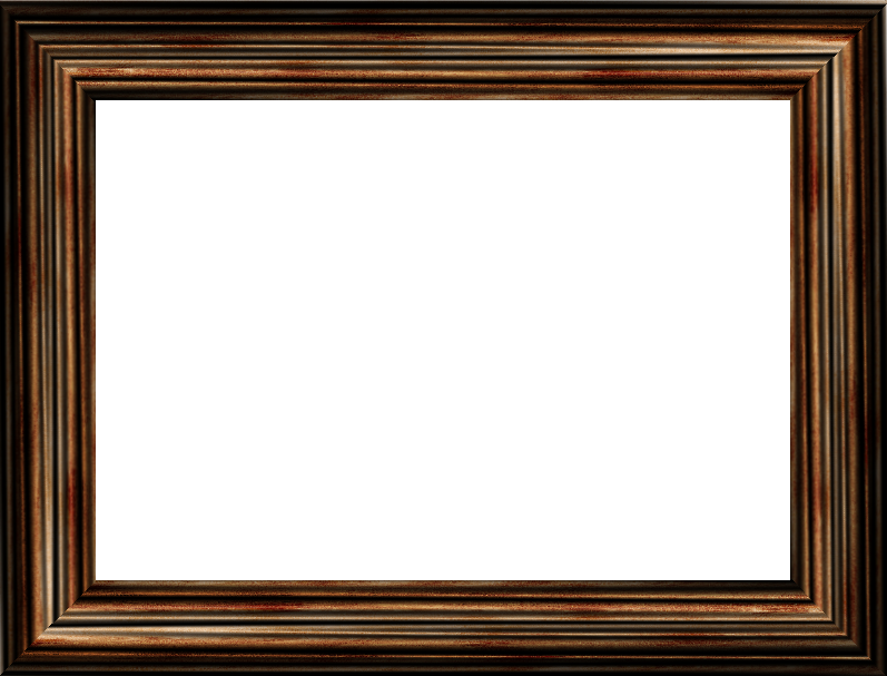 Wood picture frame png. Brown stock by venicet