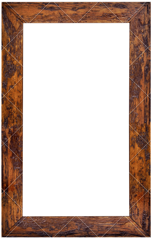 Wooden picture frame png. Vertical cutout photos by