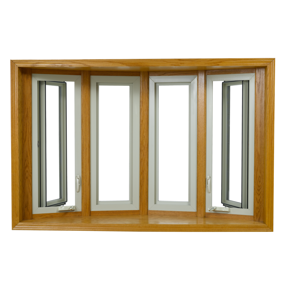 Bow wallside windows. Wooden window frame png