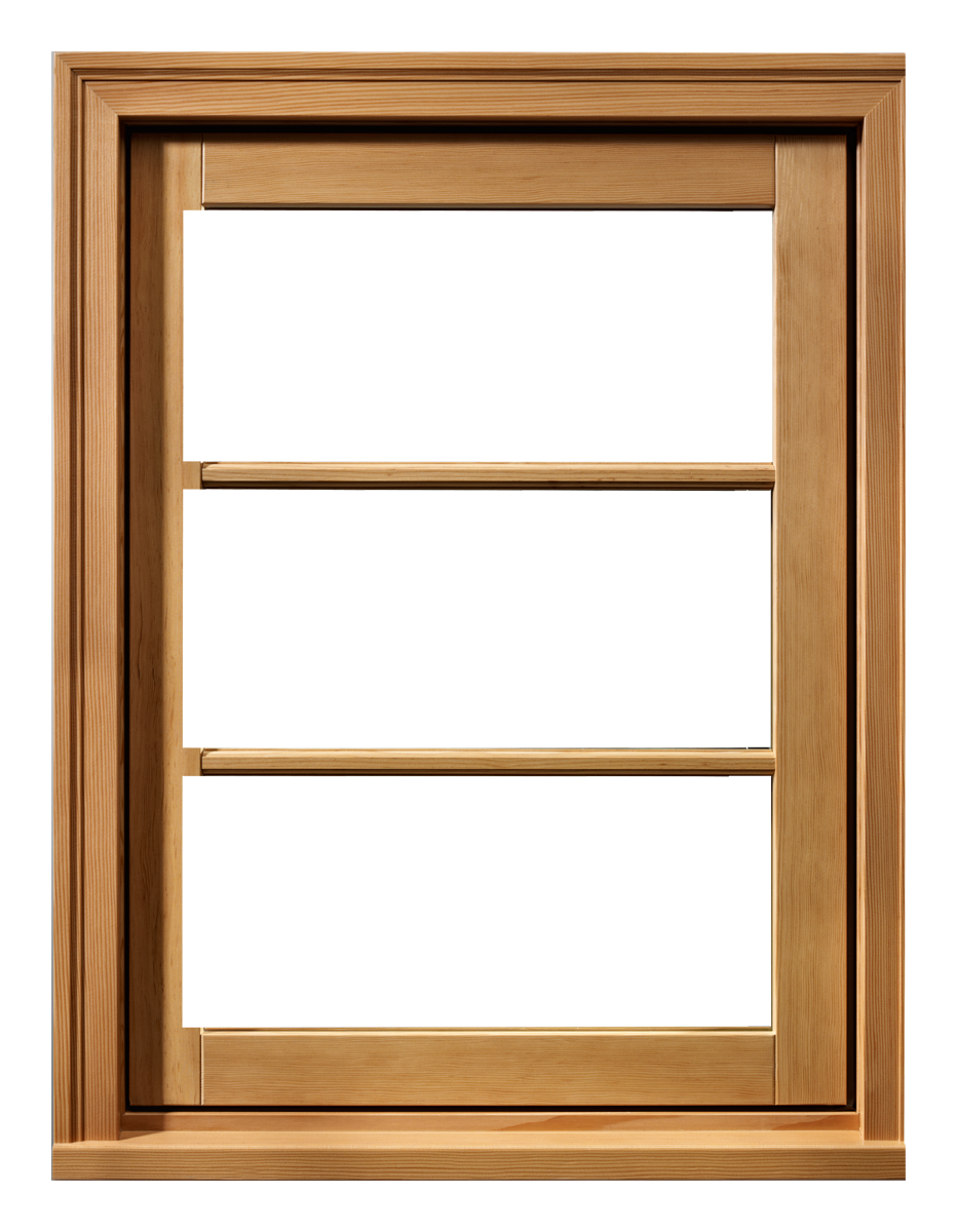 Wooden window frame png