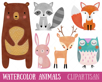 Animals clip art by. Woodland clipart