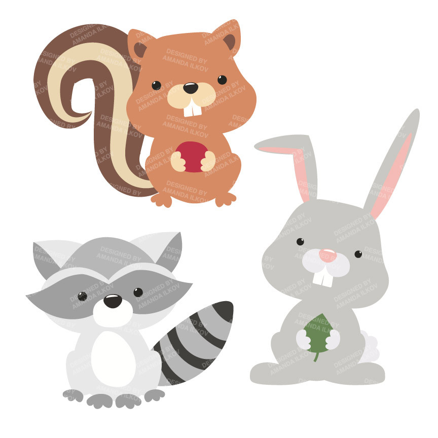 Free woodland cliparts download. 3 clipart animal