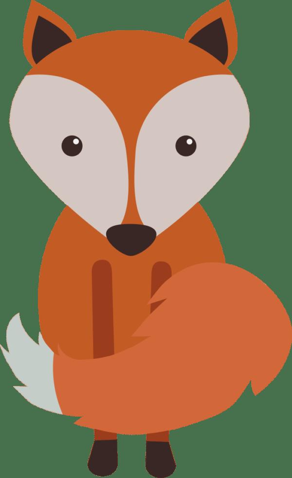 Woodland clipart adorable fox. Cute animals set clip