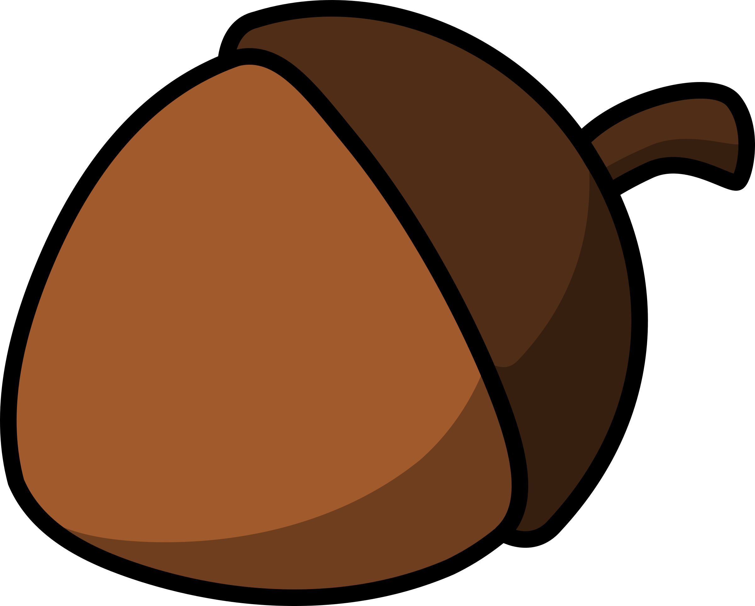 Woodland clipart alphabet. Cartoon acorn by lemmling