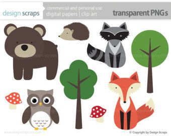 Clip art graphics forest. Woodland clipart animal community