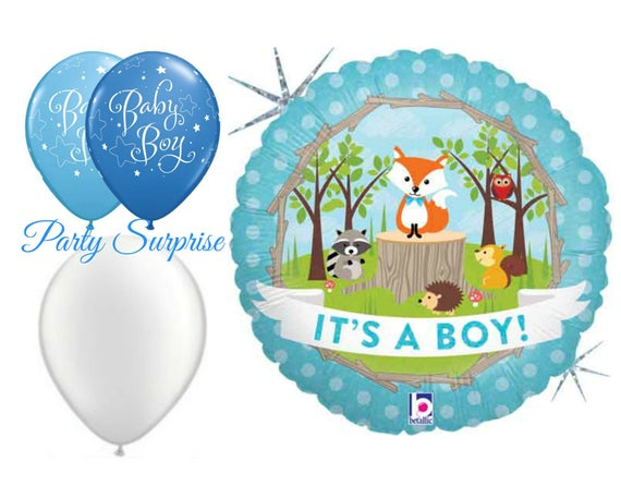 Its a balloons shower. Woodland clipart baby boy