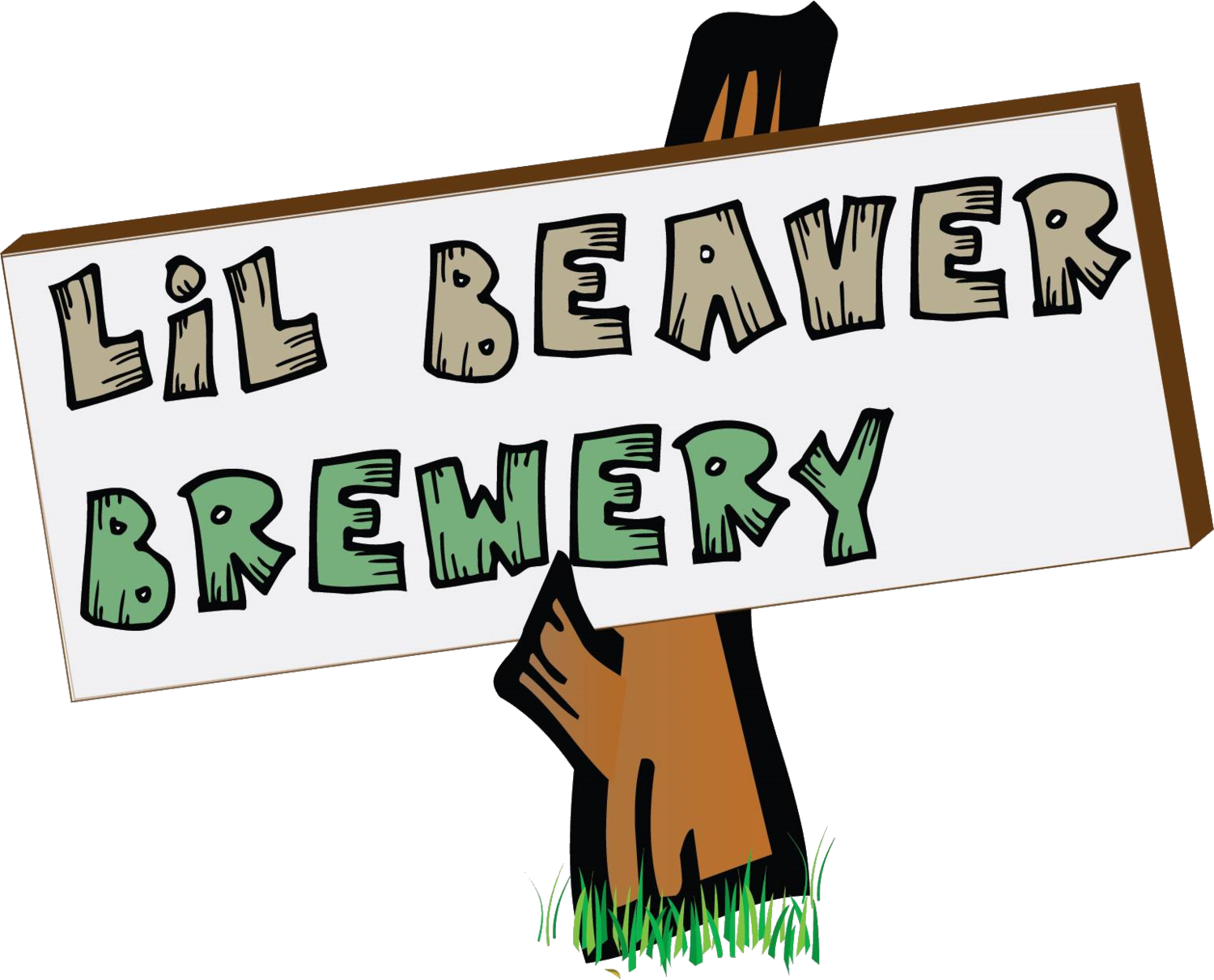 A lil history brewery. Woodland clipart beaver