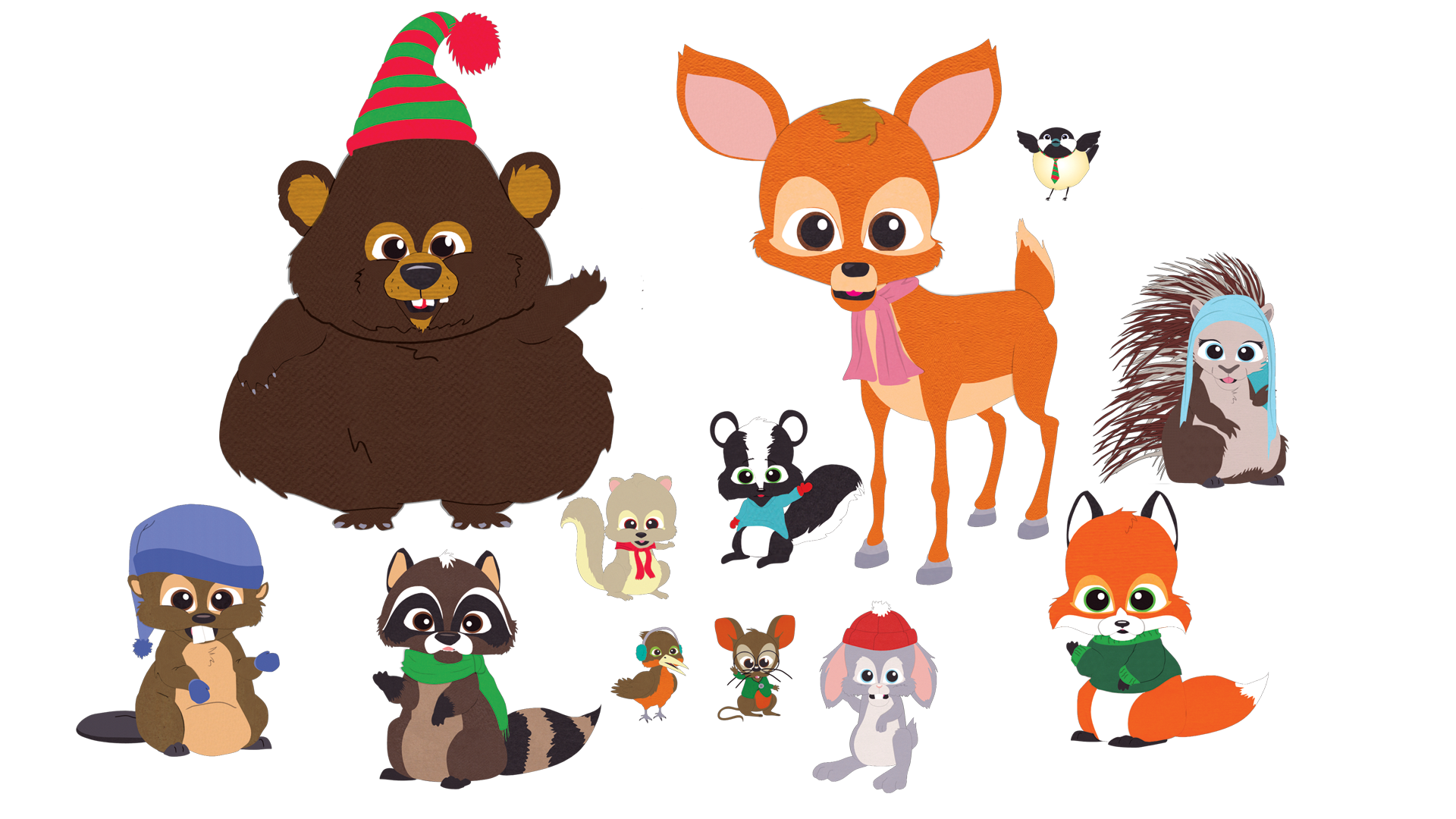 Critters official south park. Woodland clipart beaver