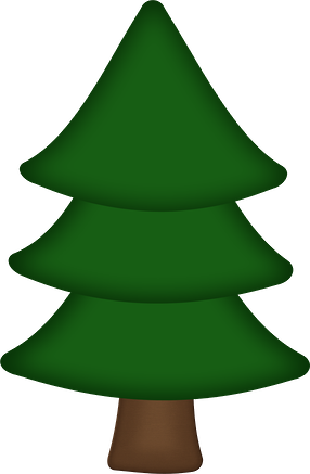 Outdoor squirrel minus camping. Woodland clipart christmas tree