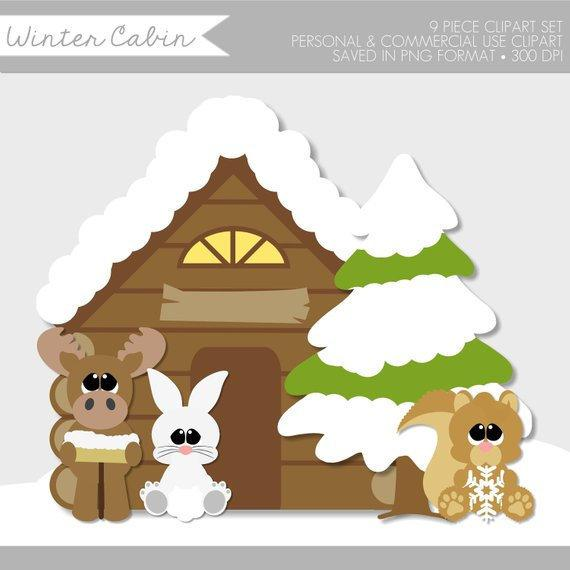 Woodland clipart kid. Winter cute animals clip