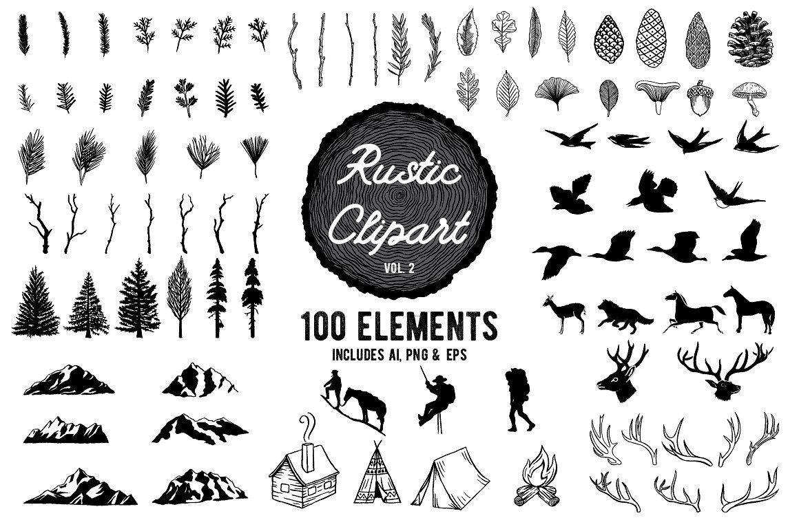Pin on rad graphics. Woodland clipart mountain