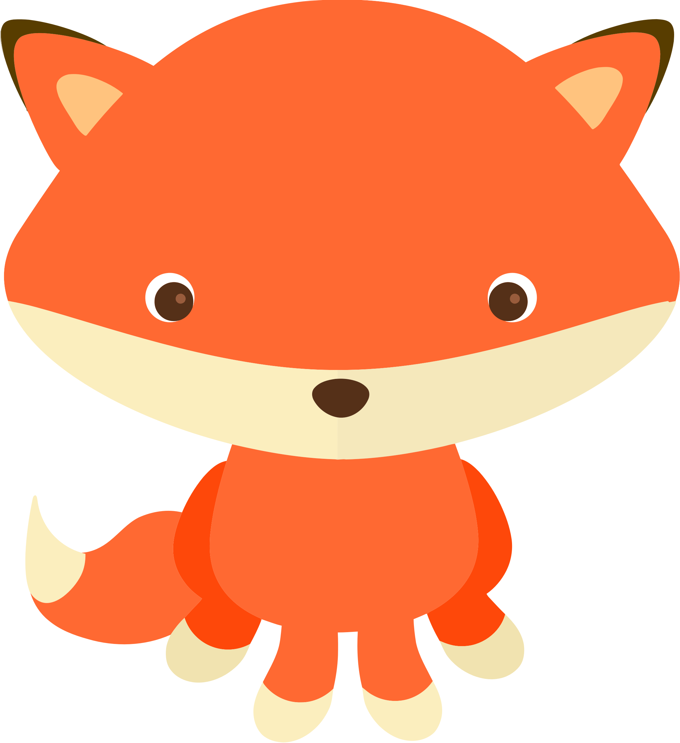 Woodland clipart orange fox. And forest animals clip