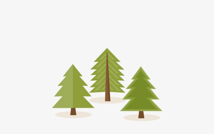Woodland clipart pine tree. Set svg scrapbook cut