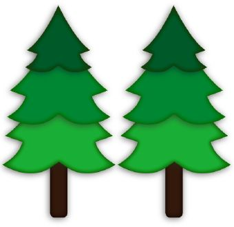 Marshmallow on a stick. Woodland clipart pine tree