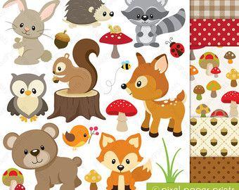 Nursery baby animals clip. Woodland clipart preschool