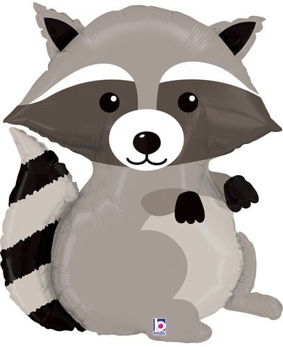 Woodland clipart raccoon.  shape mylar foil