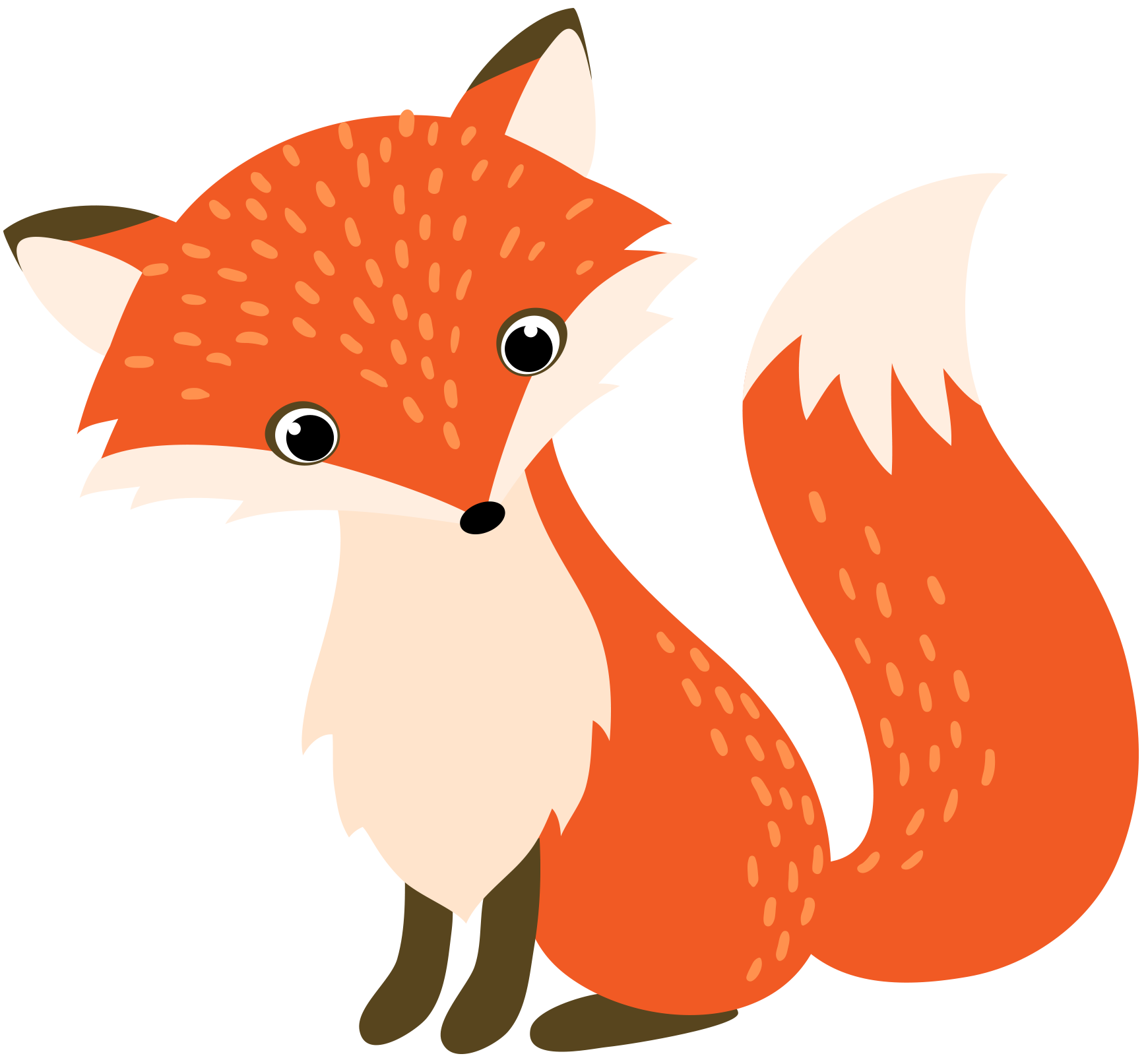 Smart on carton recycling. Woodland clipart red fox
