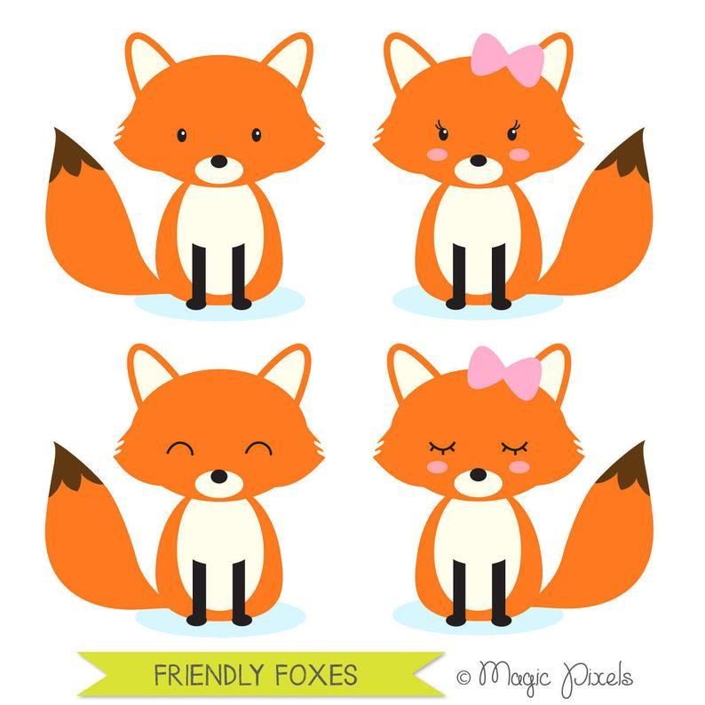Fox animals forest commercial. Woodland clipart renard