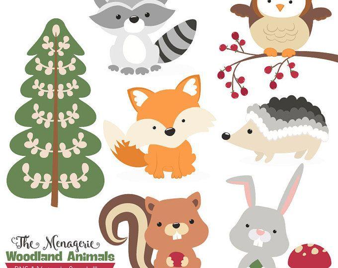 Woodland clipart royalty free. Premium animals clip art