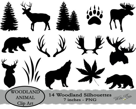 Deer svg moose animal. Woodland clipart silhouette