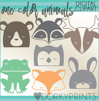 Woodland clipart simple. Animals