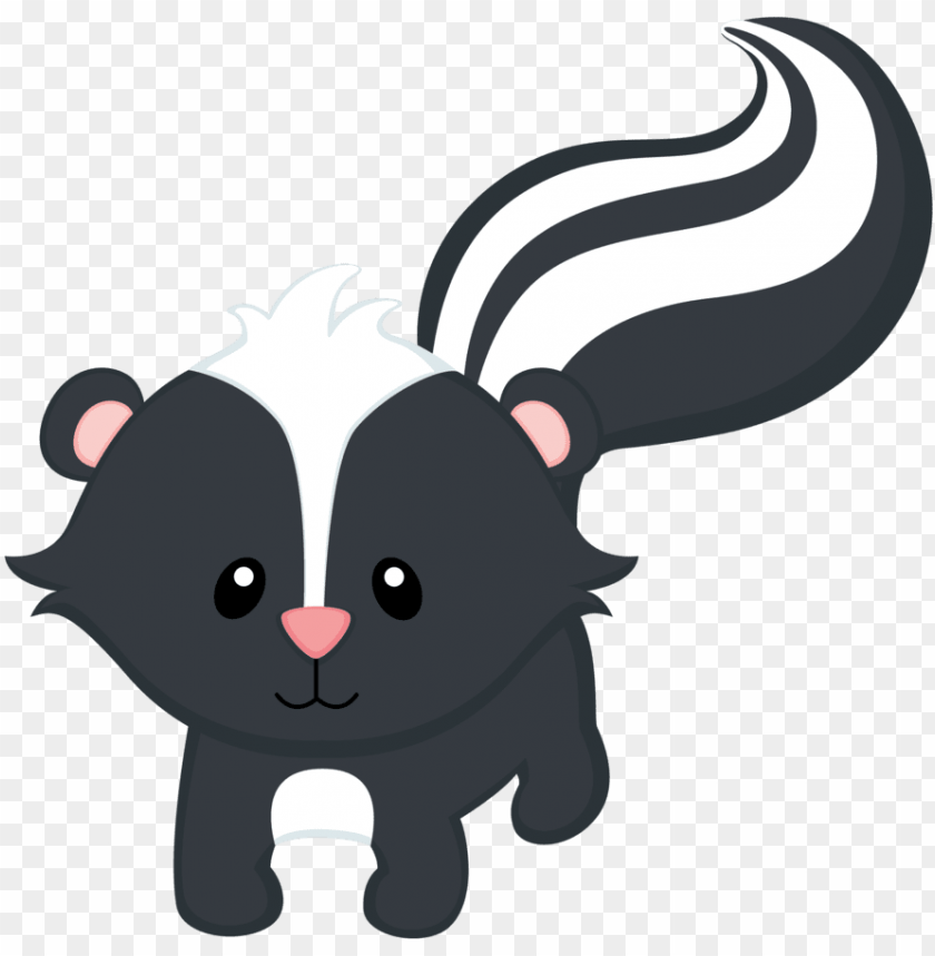 Baby animals creatures . Woodland clipart skunk