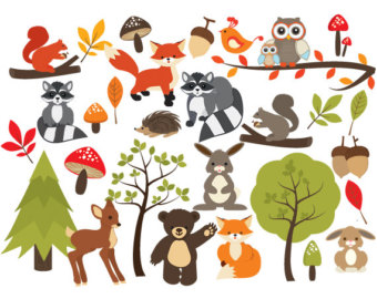 Woodland clipart small animal. Baby animals free download