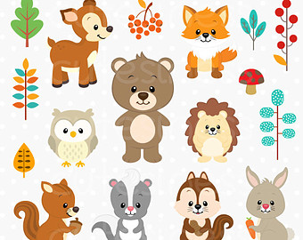 Woodland clipart small animal. Free cliparts download clip