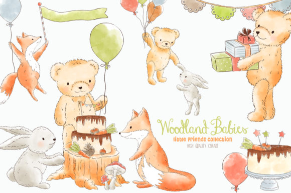 Woodland clipart standing. Forest animals
